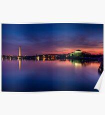 Washington DC Monuments at Sunrise Poster