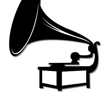 Gramophone Icon Symbol by popculture