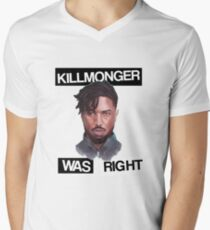 KILLMONGER WAS RIGHT Men's V-Neck T-Shirt