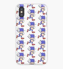 Sonic speed chibi #1 iPhone Case/Skin
