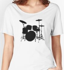 Drum Set Icon Symbol Women's Relaxed Fit T-Shirt