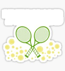 Tennis Racquet and Ball Sports Hobby Sticker