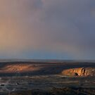 sunrise breaks on the Southwest Rift, Kilauea Caldera by Lawrence Taguma