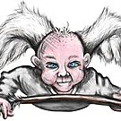Mischievous Cupid Angel by Edith Snow