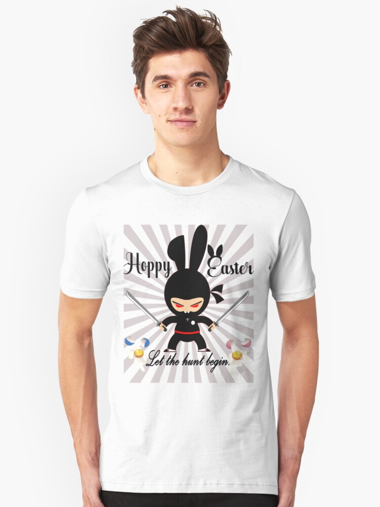 Happy easter cool bunny funny shirt Unisex T-Shirt Front
