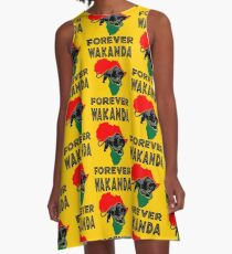 Wakanda Forever Panther A-Line Dress