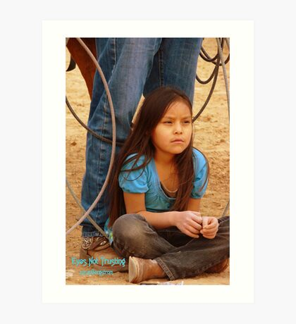 Eyes Not Trusting, Portrait Of A Native American Child Art Print