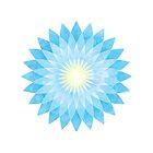 Lotus Flower Mandala  by Daniel Bevis
