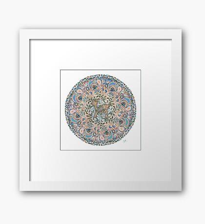 Deer Mandala Framed Print