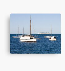 Sorrento Sailing Couta Boat Club Canvas Print