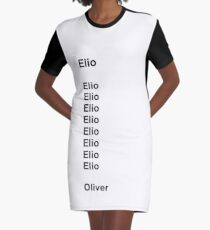 Elio and Oliver - Black Fonts Graphic T-Shirt Dress