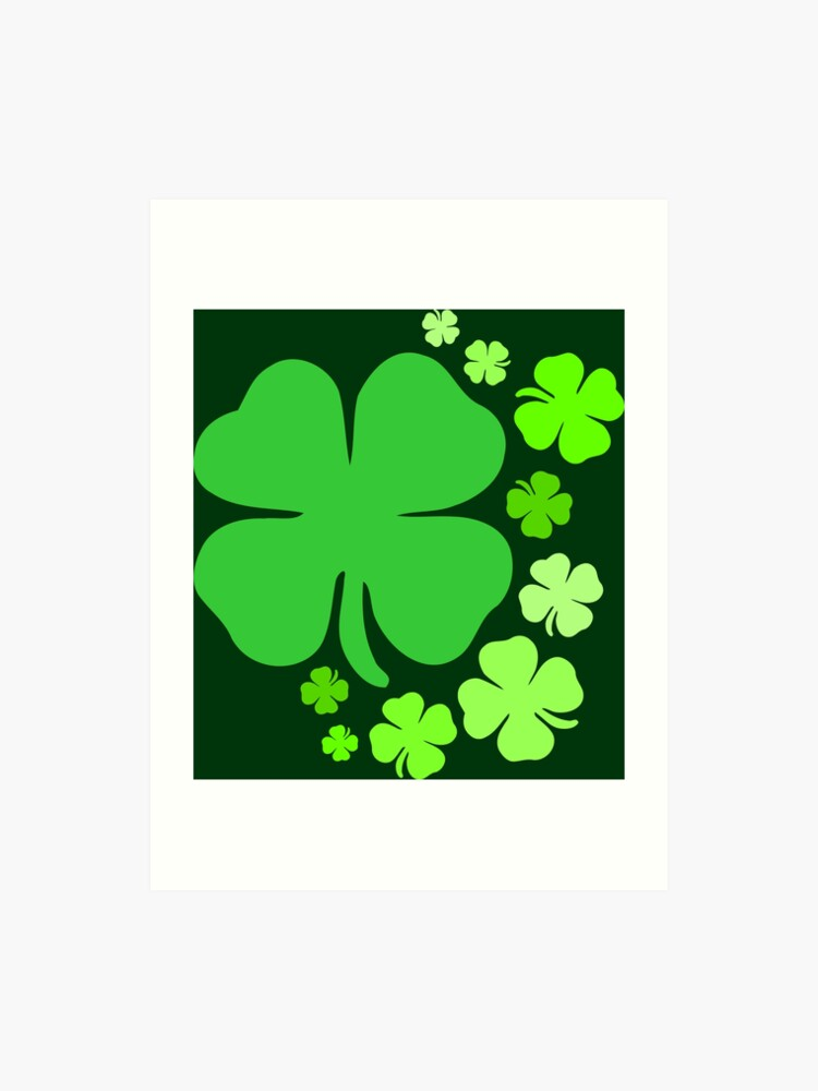 Shamrocks Shamrock Lucky charm St. Patrick's day   Art Print