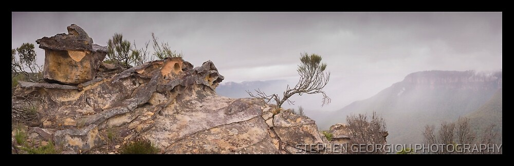 Sandstone Sculpture Blue Mountains by STEPHEN GEORGIOU PHOTOGRAPHY