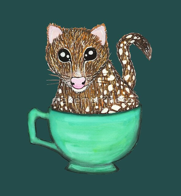 Quoll A Tea - Teal by makemerriness
