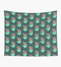 Quoll A Tea - Teal Wall Tapestry