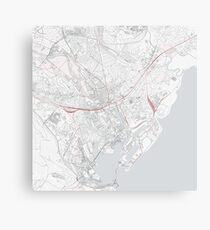 Cardiff City Map Canvas Print