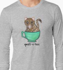 Quoll A Tea - Pink Long Sleeve T-Shirt