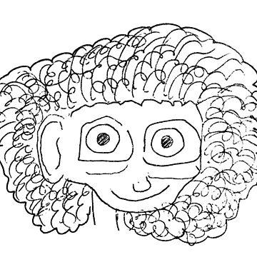 Curly Hair Cute Girl by Bro-Sis