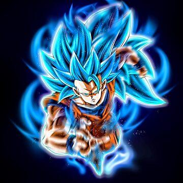 Goku SSJ 3 Blue by Aristote