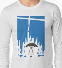Linux Tux Umbrella Blue Long Sleeve T-Shirt