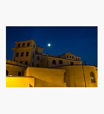 Magical Rome, Italy - Yellow Facades and Moonlight Photographic Print