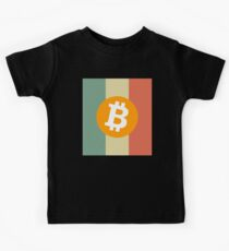Bitcoin Vintage Crypto Currency T-shirt Kids Tee