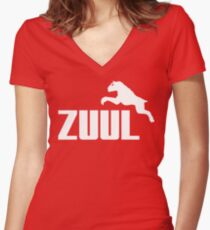 Zuul Athletics Women's Fitted V-Neck T-Shirt