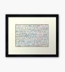 Bright Program Code Abstract Background Framed Print