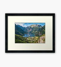 Norway, Geiranger fjord Framed Print