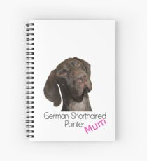 Glossy Grizzly German Shorthaired Pointer Mum Spiral Notebook