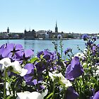 Stockholm Through The Flowers (Purple) by CreativeEm