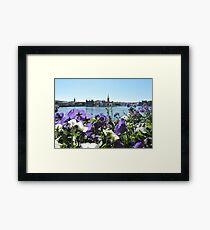Stockholm Through The Flowers (Purple) Framed Print