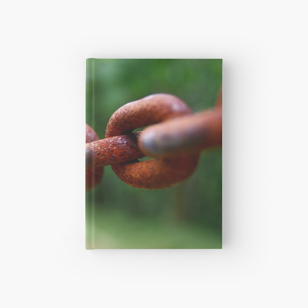 Old rusted chain Hardcover Journal