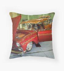 1956 ORANGE Custome Chevrolet HANDYMAN WAGON  #2 Throw Pillow