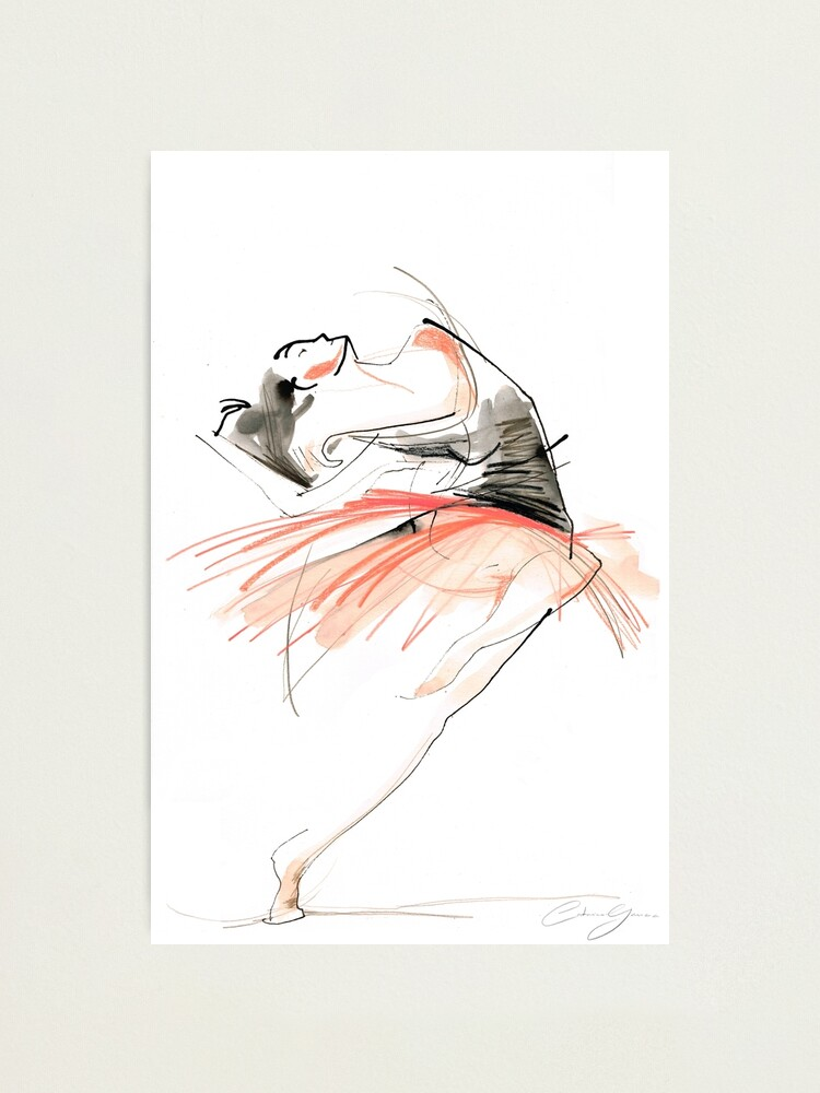 Alternate view of Expressive Dance Drawing Photographic Print