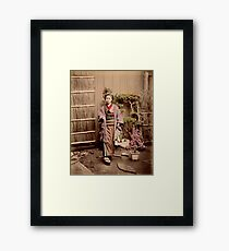 Japanese child Framed Print