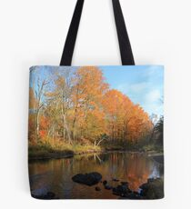 Autumn Brook Reflections - Nova Scotia Canada Tote Bag