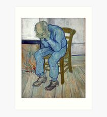 'At Eternity's Gate' by Vincent Van Gogh (Reproduction) Art Print