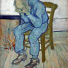 'At Eternity's Gate' by Vincent Van Gogh (Reproduction) by Roz Abellera Art Gallery