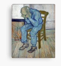 'At Eternity's Gate' by Vincent Van Gogh (Reproduction) Canvas Print