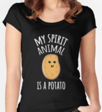 My Spirit Animal Is A Potato Women's Fitted Scoop T-Shirt