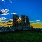 Reculver Castle, Kent, UK at sunset by Luke Farmer