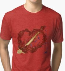 Flaming heart Tri-blend T-Shirt
