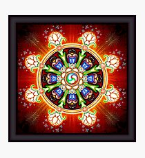 Dharma Wheel Photographic Print