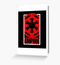 DISOBEY Empire Red Greeting Card
