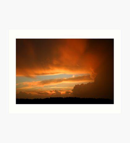 Summertime Sunset Art Print