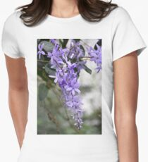 The Violet flowers Women's Fitted T-Shirt