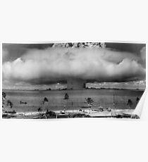 Atombombenpilz Cloud Operation Crossroads Baker Test Poster