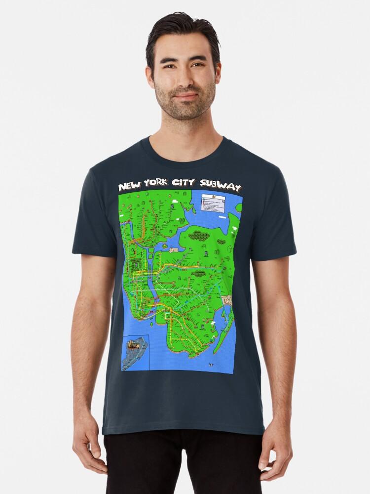 Nyc Subway Map Shirt.New York City Super Mario World Subway Map Premium T Shirt By Robert Bacon