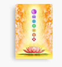 Holy Lotus - The Seven Chakras Canvas Print